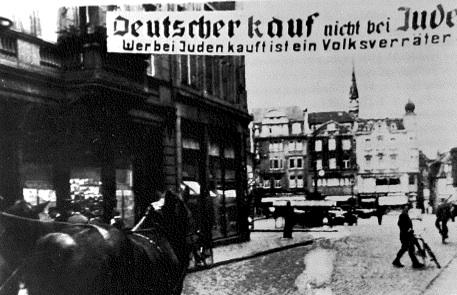 Spruchband am Eingang zum Altstadtmarkt (StA Recklinghausen)
