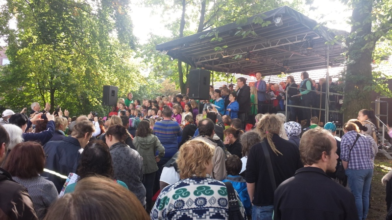 Day of Song im Willy-Brandt-Park in Recklinghausen am 27.09.2014